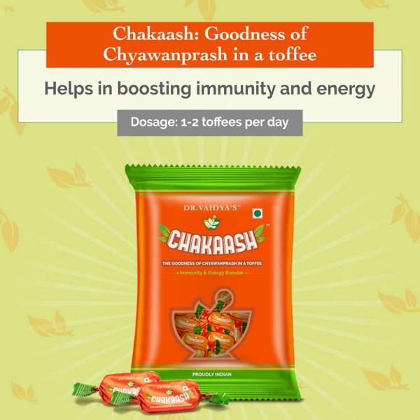 Dr. Vaidya's Chakaash - Chyawanprash Toffee (Pack Of 50)