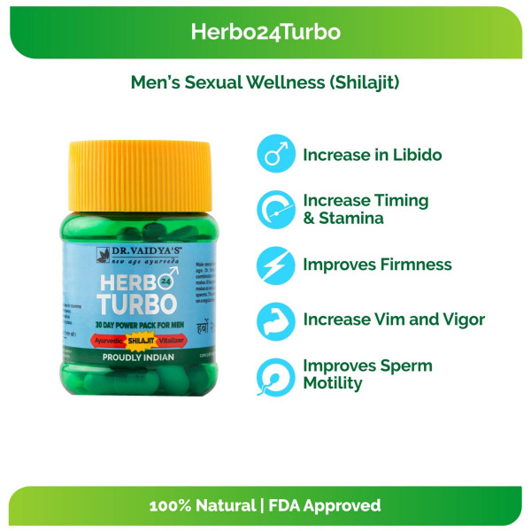 Dr. Vaidya's Herbo 24Turbo, 30 Capsules (Pack Of 2)
