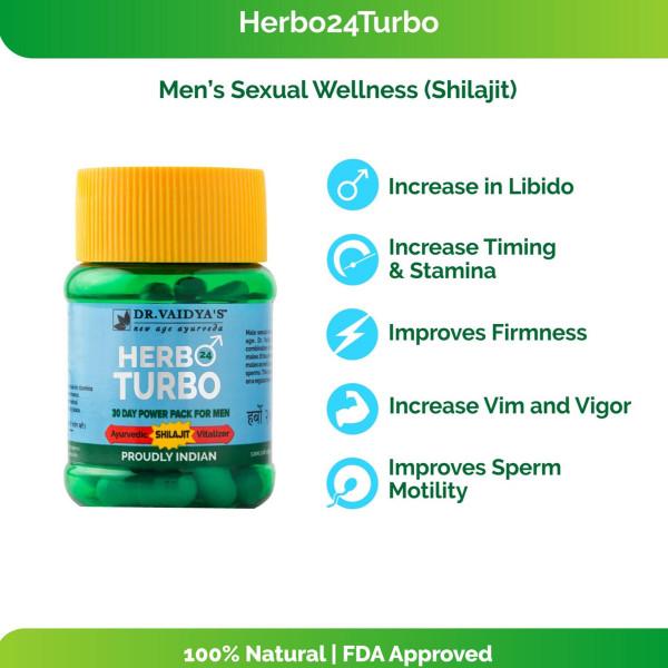 Dr. Vaidya's Herbo 24Turbo, 30 Capsules (Pack Of 3)