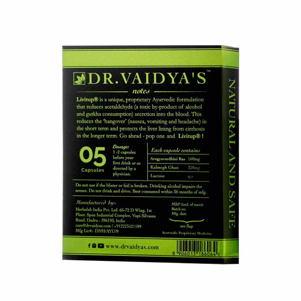 Dr. Vaidyas LIVitup, 5 Capsules (Pack Of 4)
