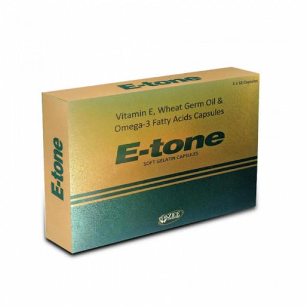E - Tone Soft Gel,  100 Capsules