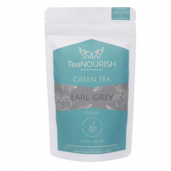 TeaNOURISH Earl Grey Darjeeling Green Tea, 100gm