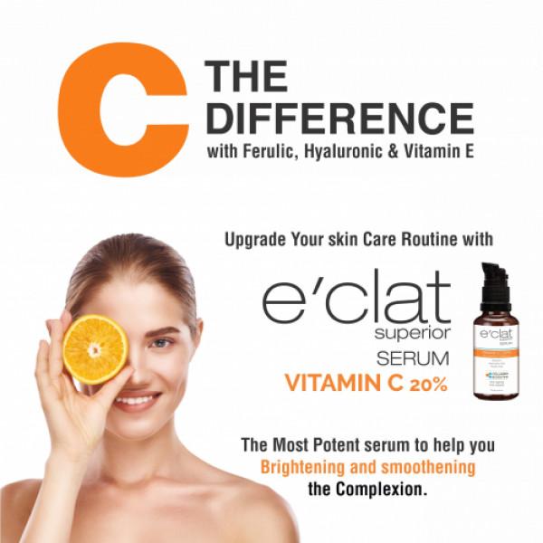 E'clat Superior Vitamin C 20% Serum - Collagen Booster, 30ml