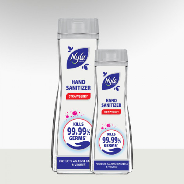 Nyle Hand Sanitizer 72% Alcohol, 90ml (Strawberry) - Protects Against Bacteria & Viruses