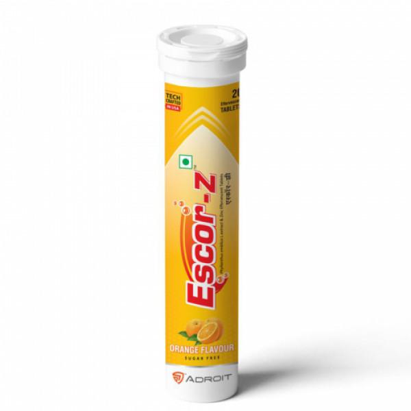 Escor-Z Effervescent Tablets - Orange Flavour, 20s