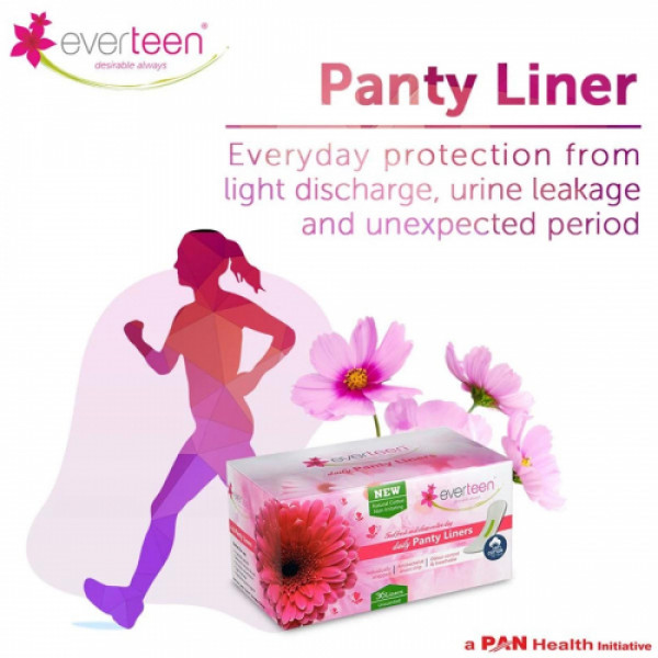 everteen Natural Cotton Daily Panty Liners, 36 Pieces (Unscented)