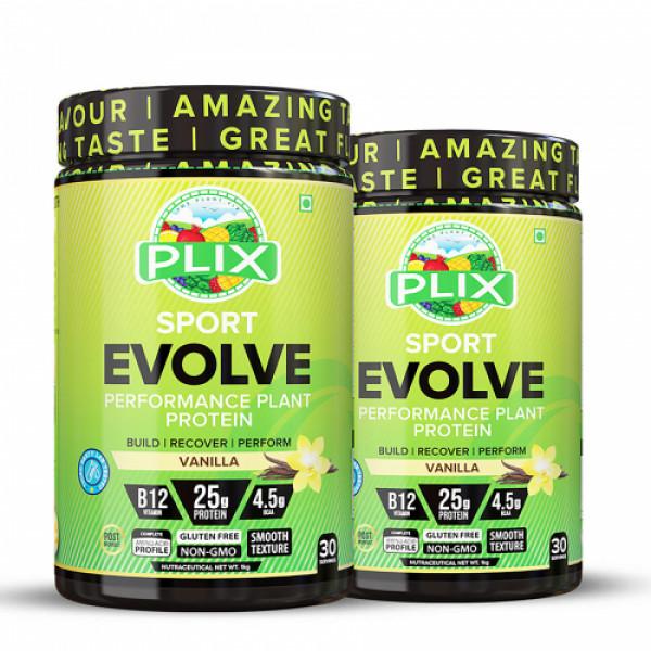Plix Evolve Performance Plant Protein Powder Vanilla Flavour, 2kg