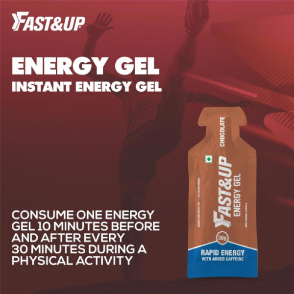 Fast&Up Energy Gel - Ready-To-Consume (Chocolate), 5 Sachets