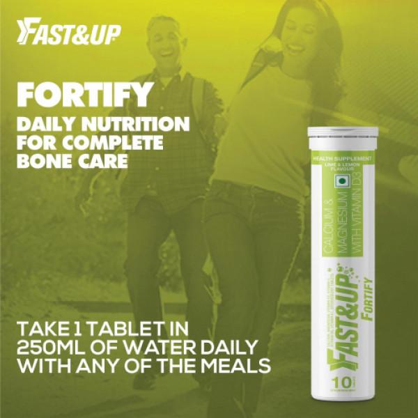Fast&Up Fortify Effervescent (Lime & Lemon), 10 Tablets