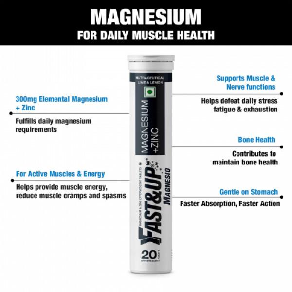 Fast&Up Magnesio Effervescent (Lime & Lemon), 20 Tablets