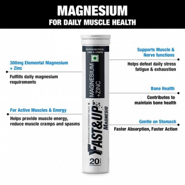 Fast&Up Magnesio Effervescent (Lime & Lemon), 60 Tablets