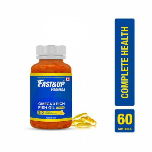 Fast&Up Promega Omega 3 Rich Fish Oil (Chocolate), 60 Softgels