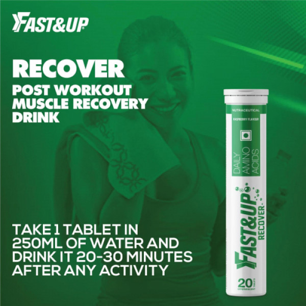 Fast&Up Recover Effervescent (Raspberry), 20 Tablets