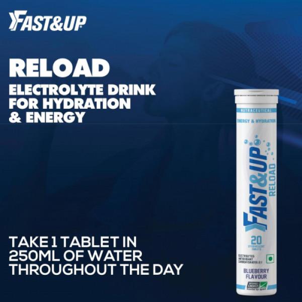 Fast&Up Reload Effervescent (Blueberry), 20 Tablets