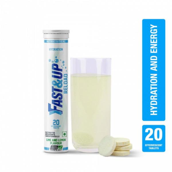 Fast&Up Reload Effervescent (Lime & Lemon), 20 Tablets