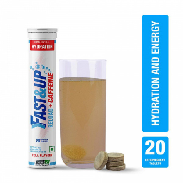 Fast&Up Reload+Caffeine Effervescent (Cola), 20 Tablets