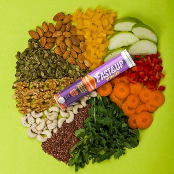 Fast&Up Vitalize Effervescent (Orange), 60 Tablets