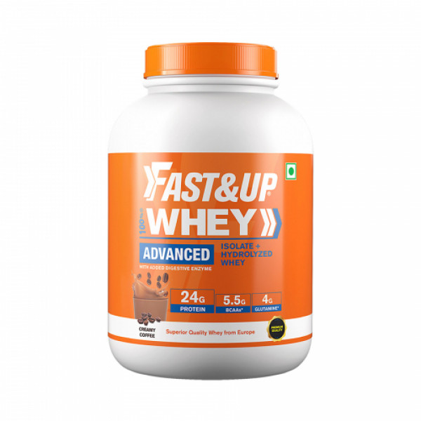 Fast&Up Whey Advanced Isolate & Hydrolyzed Whey Protein Creamy Coffee, 1824gm