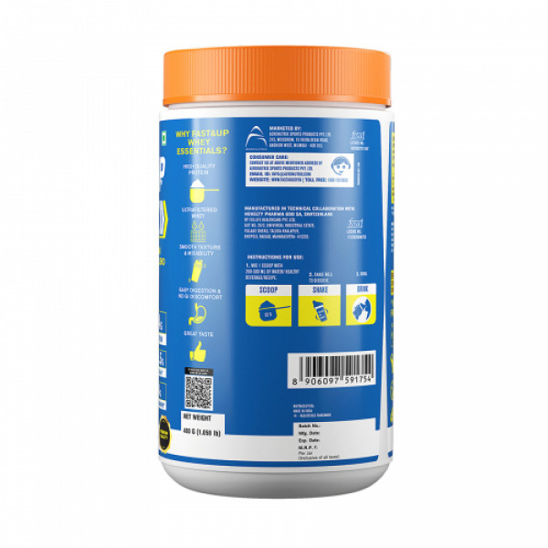Fast&Up Whey Essentials Premium Whey Blend Protein Creamy Coffee, 480gm