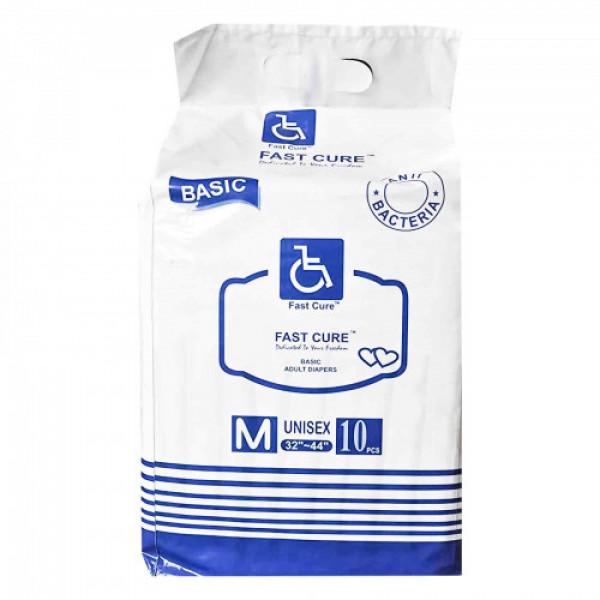 Fast Cure Basic Adult Diapers - Medium, 10Pcs