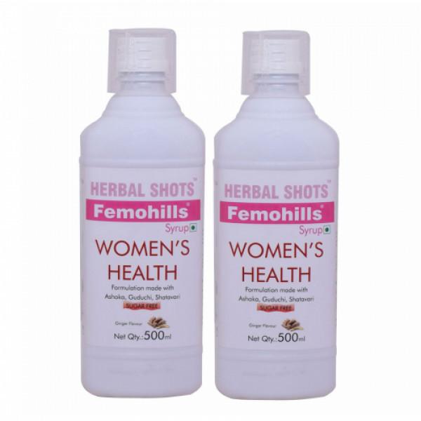 Herbal Hills Femohills Herbal Shots, 500ml (Pack of 2)