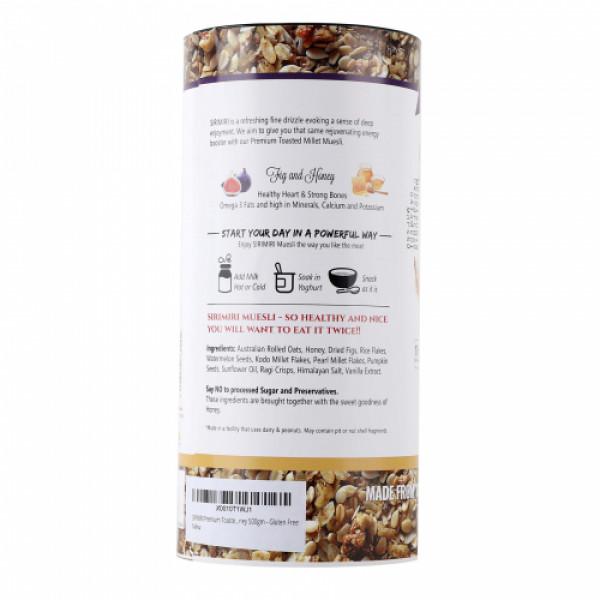 Sirimiri Premium Toasted Millet Muesli With Fig & Honey, 500gm