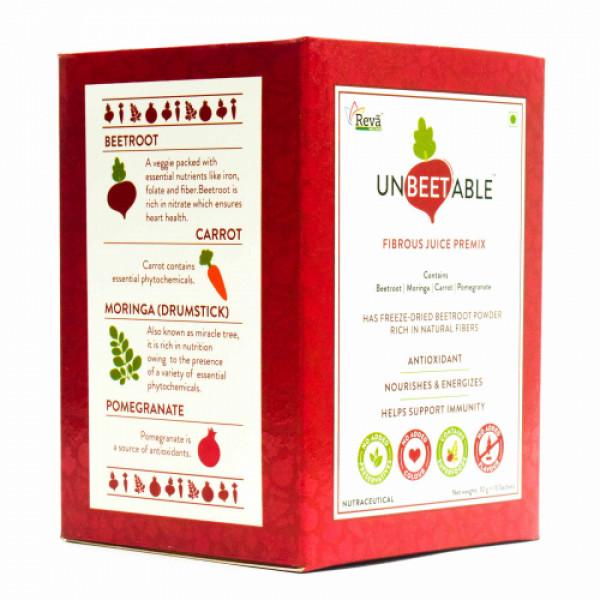 Unbeetable Fibrous Juice Premix,  15 Sachets