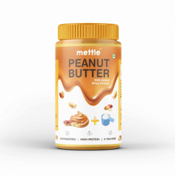 Mettle High Protein Peanut Butter, 907gm (with Added Whey Protein)