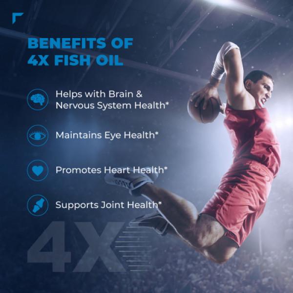 Swisse Ultiboost Odorless 4X Strength Wild Fish Oil Supplement, 60 Tablets