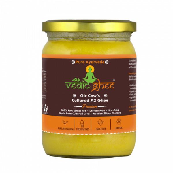 Vedic Ghee Premium A2 Gir Cow Cultured Ghee, 500ml