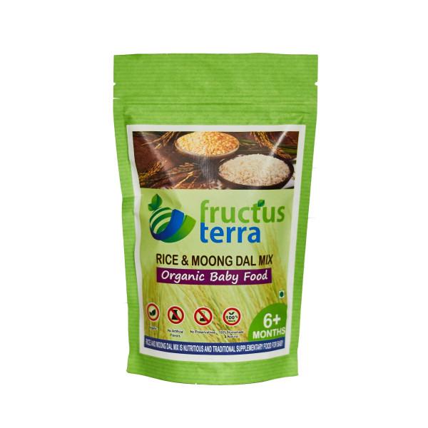 Fructus Terra Organic Rice And Moongdal Mix, 250gm