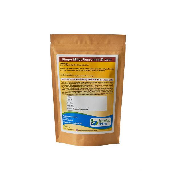 Fructus Terra Organic sprouted Ragi/Nachani/Finger Millet Flour, 500gm