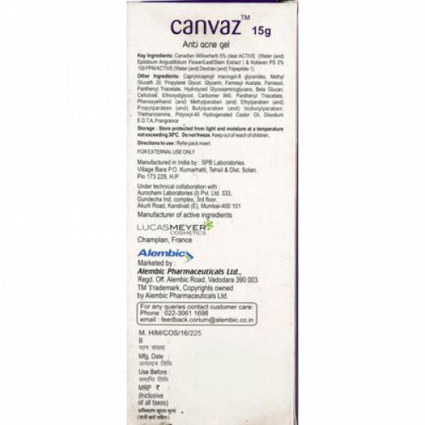 Canvaz Anti Acne Gel, 15gm