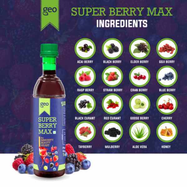 Geo Natural Super Berry Max Juice Concentrate, 500ml