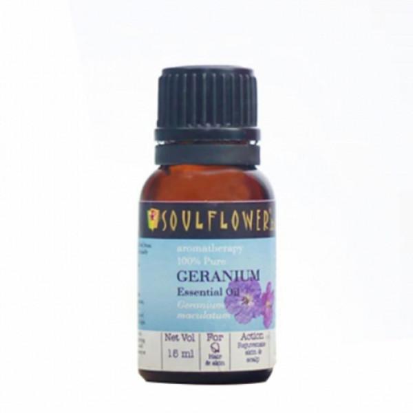 Soulflower Geranium Essential Oil, 15ml