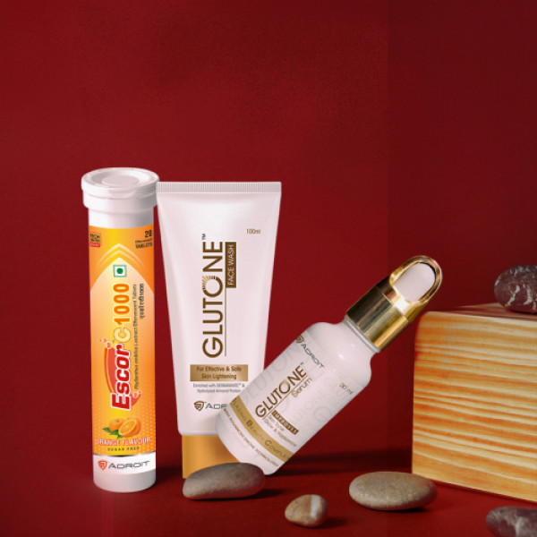 Escor C 1000 with Glutone Serum And Glutone Face Wash Combo Pack