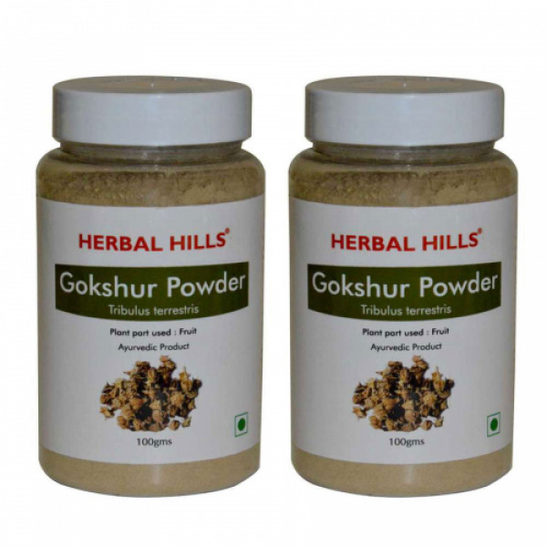Herbal Hills Gokshur Powder,100gm (Pack of 2)