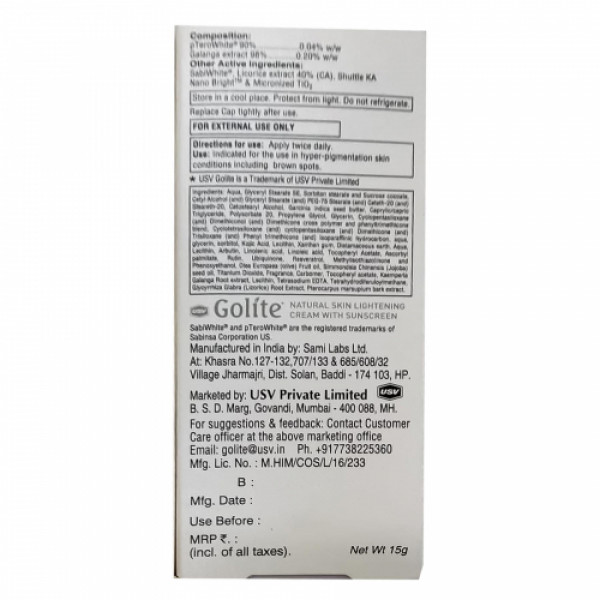 Golite Cream, 15gm