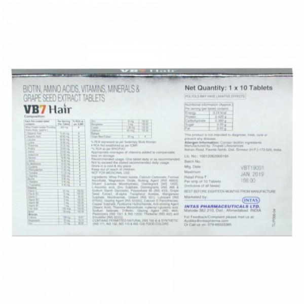 VB7 Hair, 10 Tablets
