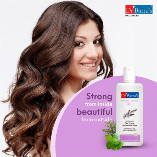 Dr Batra's Hair Fall Control Oil With Skin Purifying Bathing Bar Combo Pack