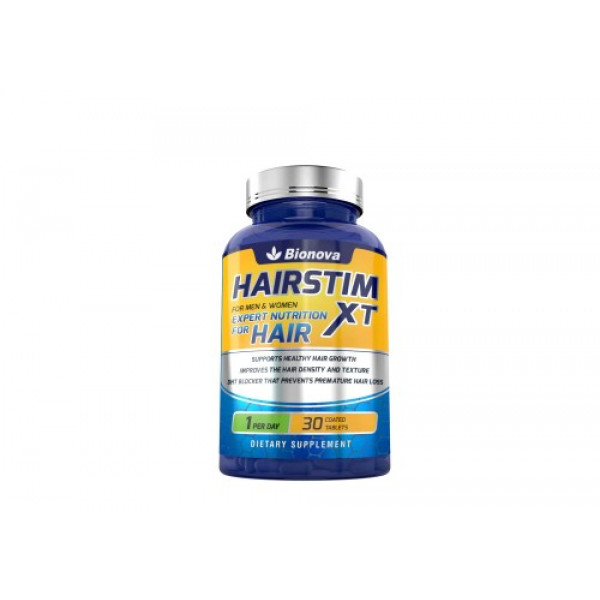 Hairstim XT - Biotin 10,000mcg with Added Nutrients for Hair Growth & Reduced Hair Loss, 30 Tablets