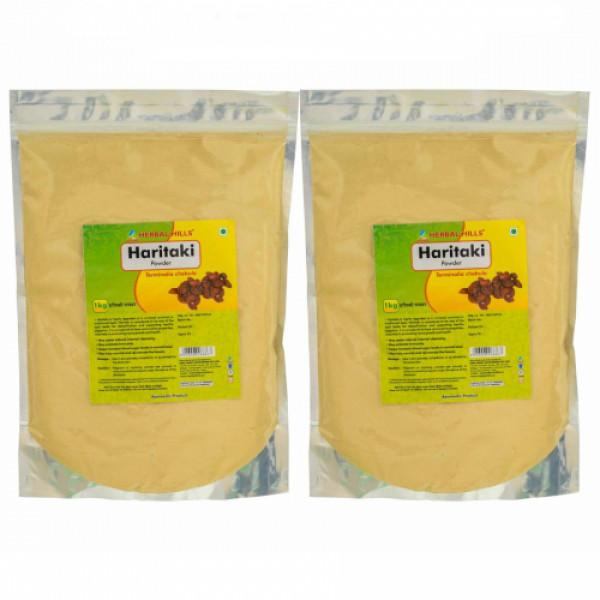 Herbal Hills Haritaki Powder, 1 Kg  (Pack Of 2)