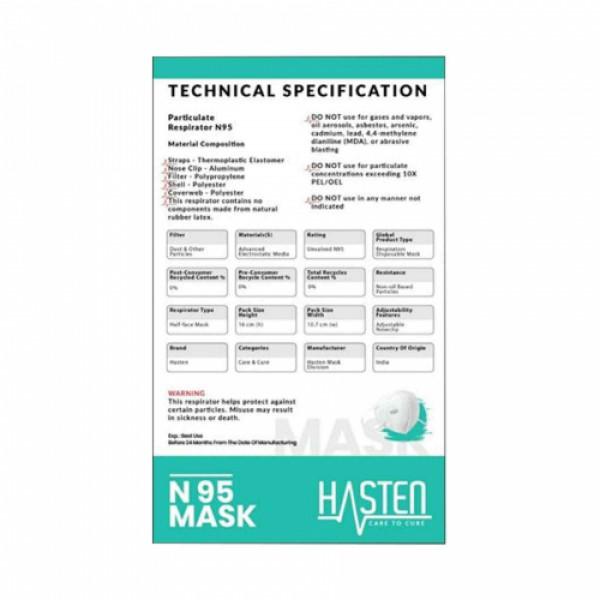 Hasten N95 Mask - 5 Layer Particulate Respirator with Inbuilt Filter