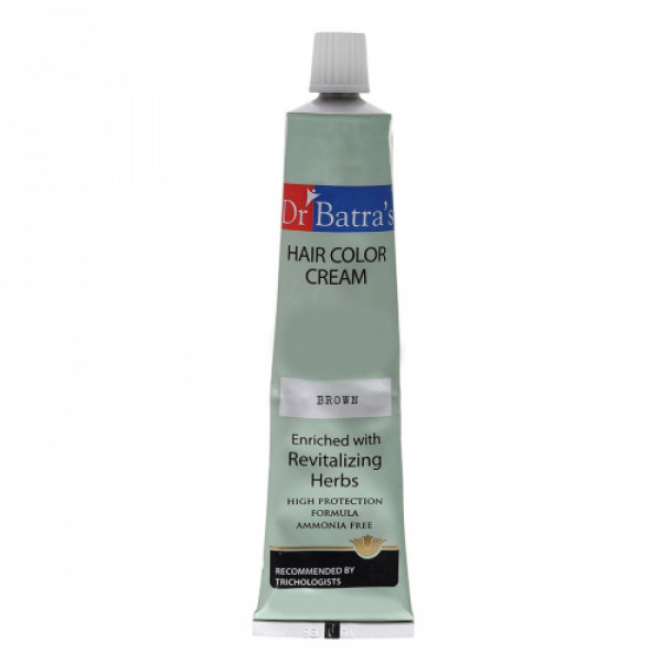 Dr Batra's Herbal Hair Color Cream (Black) With Herbal Hair Color Cream (Brown) Combo Pack