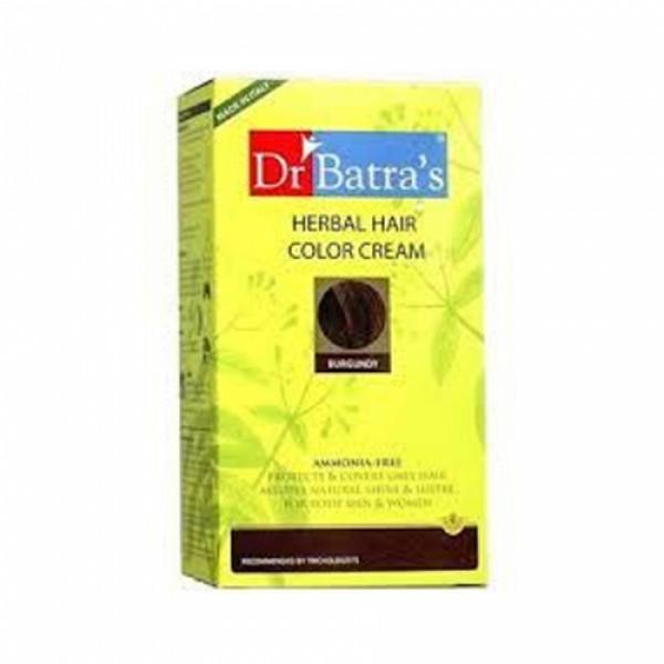Dr Batra's Herbal Hair Color Cream, 130gm (Burgundy)