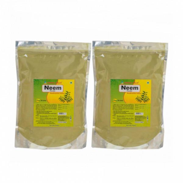 Herbal Hills Neem Patra Powder, 1 Kg (Pack Of 2)