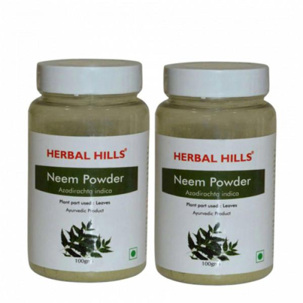 Herbal Hills Neem Patra Powder, 100gm (Pack Of 2)