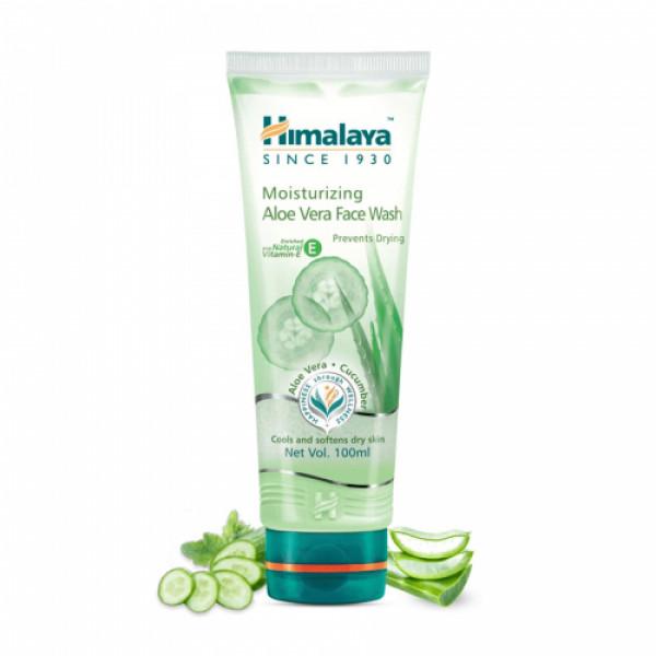 Himalaya Moisturizing Aloe Vera Face Wash, 100ml
