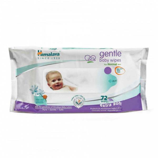 Himalaya Herbals Gentle Baby, 72 Wipes