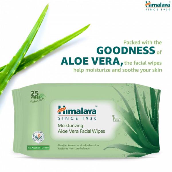 Himalaya Moisturizing Aloe Vera Facial, 25 Wipes